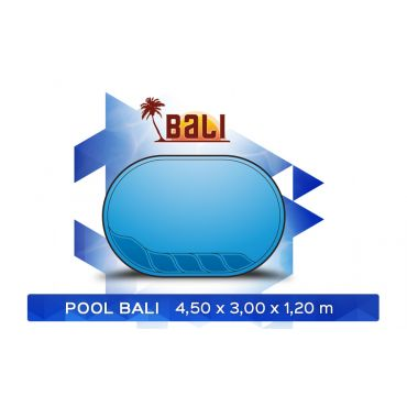 BASEN POLIESTROWY  BALI 4,50 x 3,00 x 1,20 m