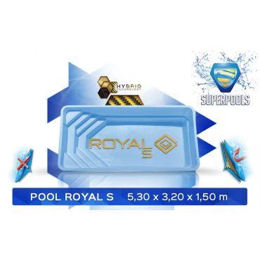 BASEN POLIESTROWY ROYAL_ 5,30 x 3,20 x 1,50 m